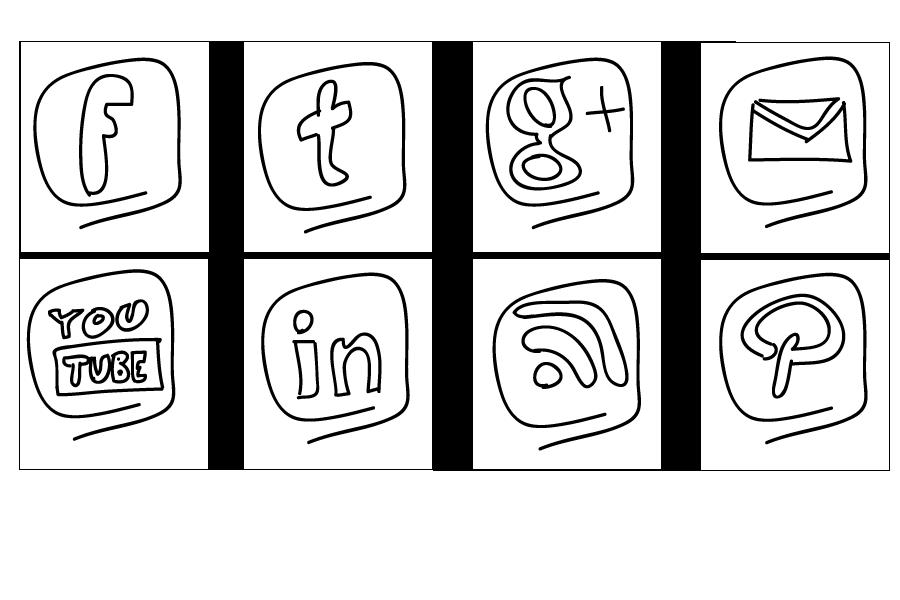 free social media icon set rainy style